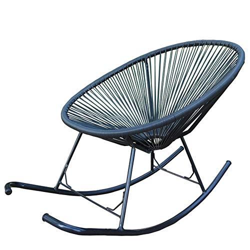 ChenYongPing Relax cómoda Mecedora Silla de salón de 4 Colores 80x103x130cm Interior Tumbona reclinable al Aire Libre Tumbona (Color : Blue, Size : M)