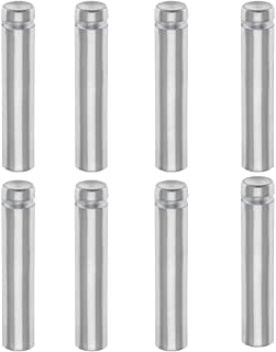 "1/2 Wall Standoffs Holders, TEZONG 1/2"" x 2-2/5"" Sign Screws Silver Aluminum Glass Standoff Hardware Mounts Advertising Nails for Acrylic PVC Wood Panel 8Packs"