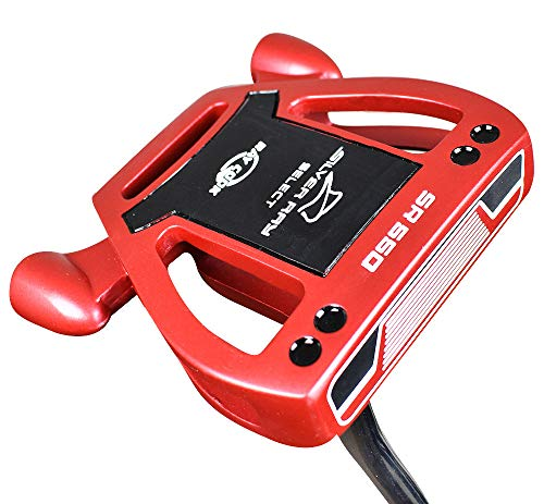"""Ray Cook Golf- Silver Ray Select SR550 Putter Red 35"""" -  901526"""