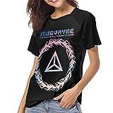 SUJQNGC Mudvayne Logo Baseball T Shirt Woman Short Sleeve Shirt Casual O-Neck T-Shirt Black