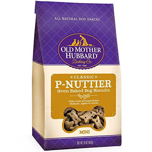 Old Mother Hubbard Classic Crunchy Natural Dog Treats, P-Nuttier Mini Biscuits, 20-Ounce Bag