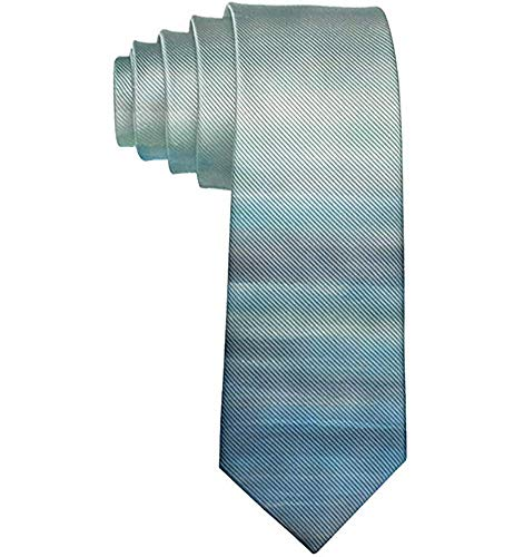 Corbata De Hombre Corbata,Corbata De Hombre Aqua Teal Azul Mar Océano Ombre Corbata De Moda Traje De Reunión De Fiesta De Boda,Neck Tie,Largo 145 Cm