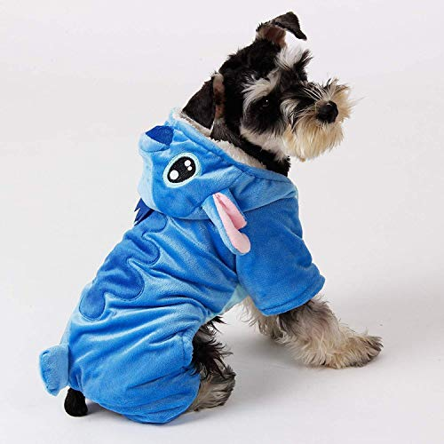 fogohill Fashion Dog Hoodies Double Layer Soft Wool Fabric and Fleece Apparel Adorable Warm Dog Coat Costume Blue X-Large