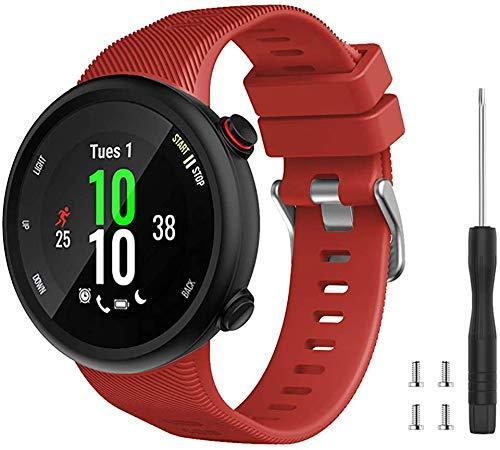 Tyogeephy Compatible con Forerunner 45S Correa de Reloj, Correa de Reloj de Repuesto Deportivo de Silicona Suave, Fitness Correa Pulsera para Forerunner 45S Smartwatch