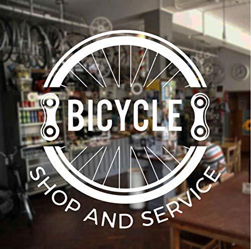 ZJfong Fietstent, service, muursticker, vinyl, decoratie voor huis, fiets, banden, ramen, wanddecoratie, 57 x 59 cm