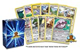100 Random Pokemon Cards - 10x Rares Guaranteed in Every Pack! - Authentic - Includes Golden Groundhog Card Storage Box | Instant Collection - Discover New Cards!