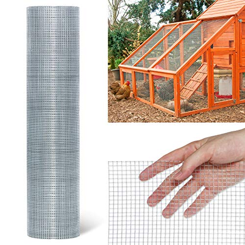 Tooca Hardware Cloth 1/4inch Chicken Wire Mesh 36in x 100ft, 23 Gauge Hot-Dipped Galvanized Material Fence Wire Mesh for Chicken Coop/Run/Cage/Pen/Vegetables Garden and Home Improvement Project