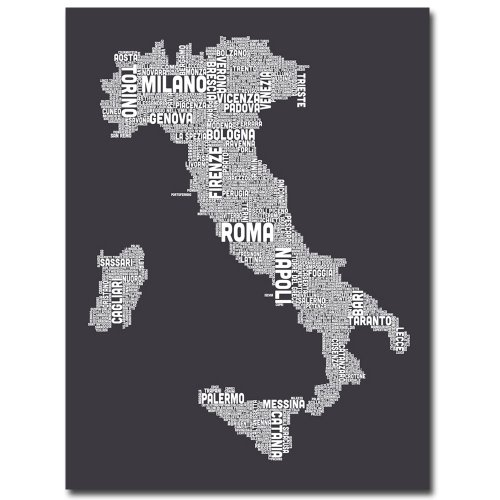 Italy in Charcoal by Michael Tompsett, 22x32-Inch Canvas Wall Art