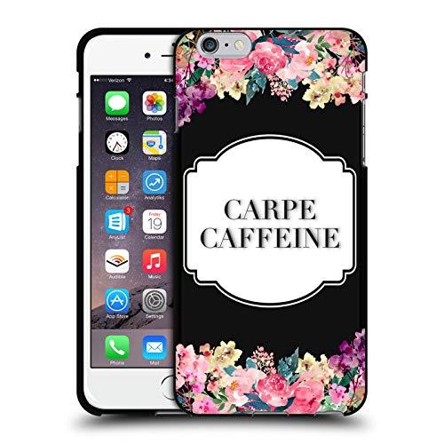 Head Case Designs Licenciado Oficialmente Monika Strigel Cafeína Carpe Flores Y Citas Funda de Gel Negro Compatible con Apple iPhone 6 Plus/iPhone 6s Plus