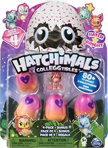Hatchimals- Collezionabili Stagione 4 Modelli Assortiti, Multicolore, Confezione da 4 Uova con Bonus, 6043960