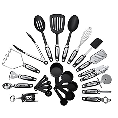 25-Piece Kitchen Tool & Utensil Set, Cooking Gadgets, Stainless Steel & Nylon by Yitchen