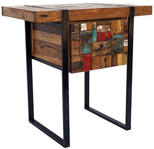 Guru-Shop Buffet, Table D`entrée Avec Tiroir, Multicolore, Leteck, 80x80x50 cm, Commodes Buffets