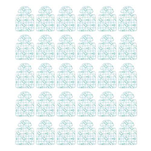 EXCEART 30 Piezas Pegatinas de Talón de Humedad Almohadillas de Talón Transpirables Invisibles Cojín Protector de Ampollas Parche para Hidratar La Fascitis Plantar Del Pie Seco Agrietado