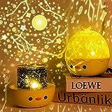 FemKey Lámpara Proyector Estrellas, Proyector de Luz Nocturna para Bebes, 6 Modos Romántica de 360°Rotación Músic Lampara , Perfecto Regalo para Bebés.