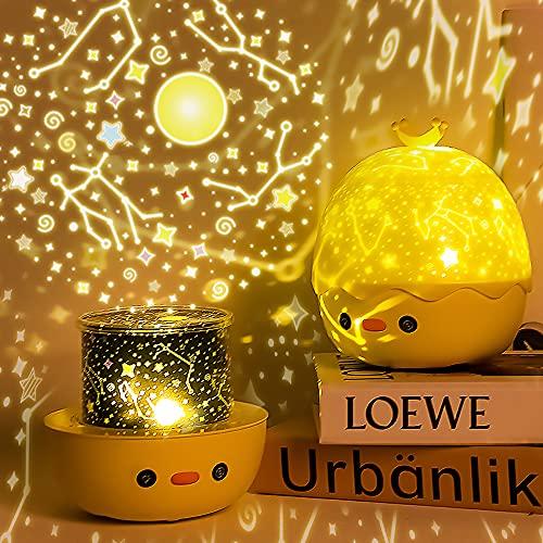 Lampada Proiettore Stelle Bambini , Telecomando Luce Notturna Bambini con 6 Proiezione e 8 Musica, 360° Rotazione Stelle Proiettore Lampada Notturna per Bambini Compleanno Feste, Natale, Halloween.