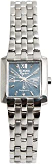 Casual Watch for Women by Accurate, Silver, Rectangle, ALQ1115