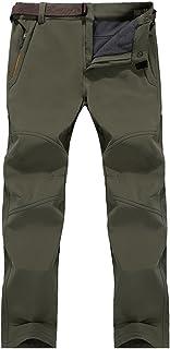 Jessie Kidden Women's Fleece Lined Soft Shell Pants Insulated Waterproof Wind Resistant
