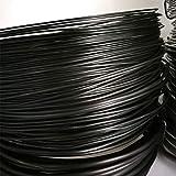 FLOX - 1 Rollo de Alambre de Aluminio anodizado para Entrenamiento de Bonsai, Cable bonsái de Larga duración, 4 tamaños (3,5 mm, 4 mm, 5 mm, 6 mm), Color Negro, Blanco, Negro, 5 mm