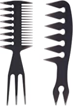 2 PCS Hair Comb Styling Set Barber Hairstylist Accessories,Professional Shaping & Wet Pick Barber Brush Tools, Anti-Static...