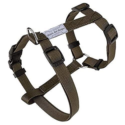 Harnais pour chien Basic Line Wouapy, Harnais Kaki de 74/117 cm