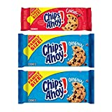Variety pack with three family size packages, including 2 CHIPS AHOY! Original Chocolate Chip Cookies and 1 CHIPS AHOY! Chewy Cookies Classic cookies loaded with real chocolate chips Original cookies baked to have the perfect amount of crunch and che...