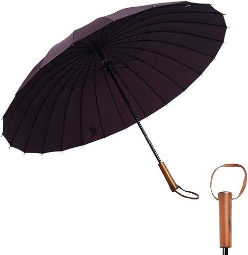 Rain Gear de plein air Fonctionnel portable Rainproof Long Parapluie Pour Les Les dames Pour Femmes 24 Bones 190T Fort Super Résistant à L'eau Super Résistant à La Pluie Mesures De Prougeection Contre La Pluie Mesur