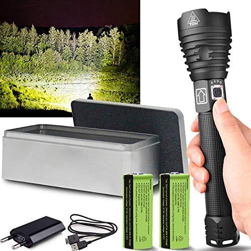 Hellste Starke Taschenlampe Der Welt Klein 150000Lumens Xhp90.2 Leistungsstärkste Led Taschenlampe Usb Zoom Taktische Taschenlampe Xhp70.2 18650 Oder 26650 Akku Handlicht