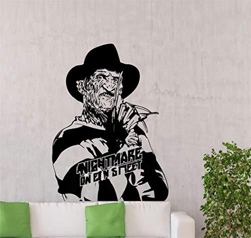 Wandaufkleber 3D Wandtattoo Wohnzimmer Freddy Krüger Maniac Nightmare Elm Street Sticker Horrorfilm Für Wohnzimmer Schlafzimmer
