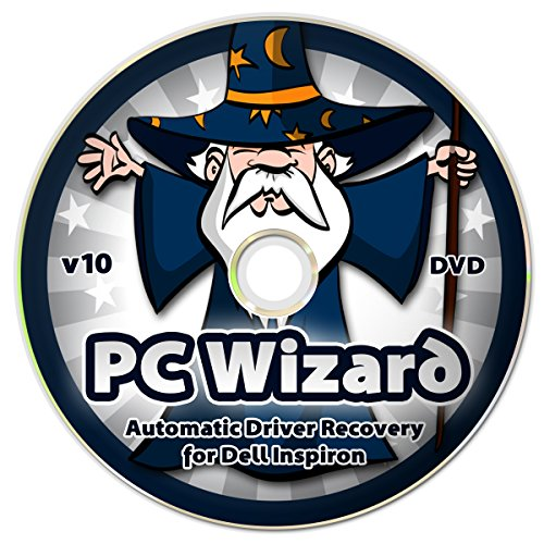 Price comparison product image PC Wizard - Automatic Drivers Recovery Restore Update for Dell Inspiron Computers (Desktops and Laptops) on DVD Disc - Supports Windows 10,  8.1,  7,  Vista,  XP (32-bit & 64-bit)