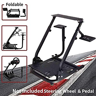 Wilk Wheel Stand G920 Racing Wheel Stand Pro for Logitech G25 G27 G29 G920 Racing Wheel Shifter and Pedals NOT Included (Bend) (Classic Plus (Double Shift Lever))