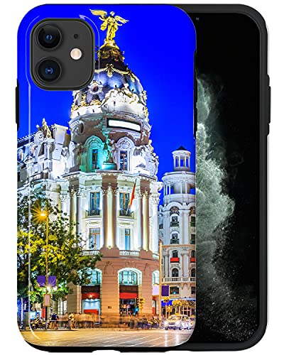 CASFY - Funda para teléfono compatible con iPhone 11, hermoso edificio antiguo QWE041_5, diseño de moda, diseño de moda, accesorios para teléfono
