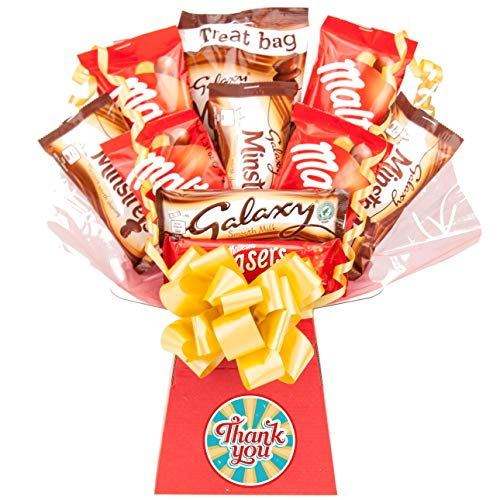 Maltesers & Galaxy Thank You Gift Chocolate Bouquet - Thank You Gifts Hamper