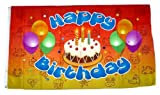 Fahne / Flagge Happy Birthday Kindergeburtstag 90 x 150 cm