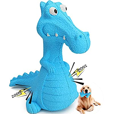 Dog Squeaky Toys, Durable Rubber Dinosaurs Dog Toys, HAOPINSH Doy Chew Toy Training Toy Puppy, Classic Dog Gift