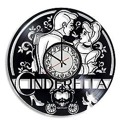 Lepri4ok Cinderella Handmade Wall Clock, Gifts for Mom, Cinderella Castle Art, Cinderella Carriage, Cinderella Carriage Decor, Gifts for Women Glass Slipper Decor