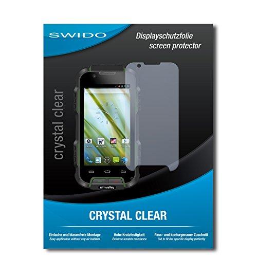 SWIDO Bildschirmschutz für Simvalley Mobile SPT-900 V2 [4 Stück] Kristall-Klar, Hoher Festigkeitgrad, Schutz vor Öl, Staub & Kratzer/Schutzfolie, Bildschirmschutzfolie, Panzerglas Folie