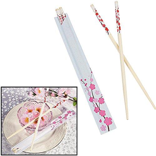 "Cherry Blossom Wooden Chopsticks (24 Pieces) 9"""