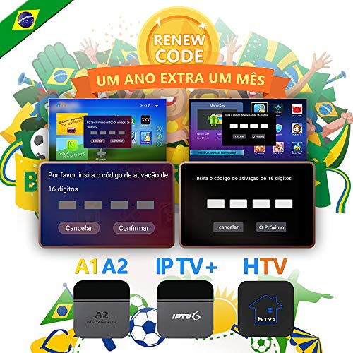 IPTV brazil code,TV box brazil Renew Code, A2 Renew Code,Activation code for A1/A2/ HTV/IPTV 5/6,Subscription 16-Digit Renew Code,One Year with extra 1 month subscription service,TV box brazil c