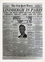 ポスター ピーター リンドバーグ VISIONAIRE(ヴィジョネアー)チャールズ・リンドバーグ NYタイムズ1927年5月22日 額装品 ウッドベーシックフレーム(ホワイト)