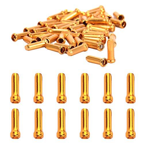 Ceqiny 60 piezas extremos de cable de bicicleta, aleación de aluminio, puntas...