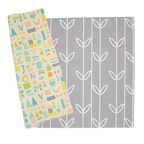 Baby Care Play Mat - Haute Collection (Medium, Sea Petals - Grey)