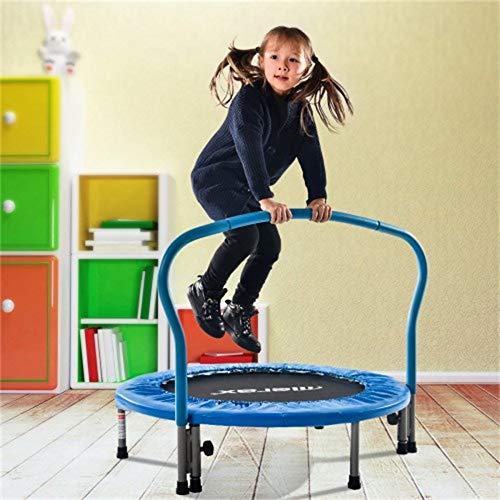 LuminPool Trampolin, Klappbar, Indoortrampolin Fitnesstraining, Minitrampolin, Max. Benutzergewicht 80kg