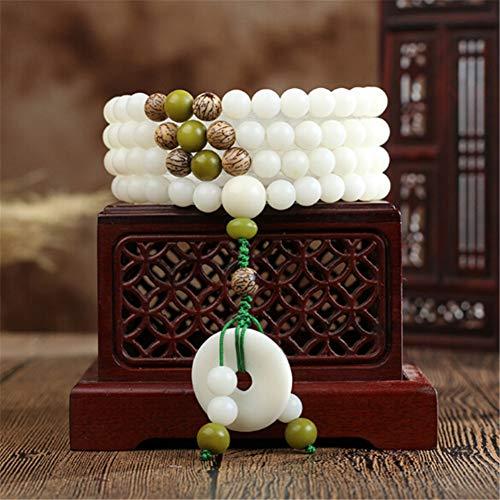 IFVCS Bodhi armband natuurlijke witte Bodhi kralen 108 armbanden met bodhi veiligheid knop hanger vrouwen