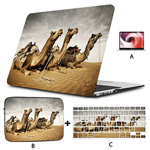 Case For Macbook Air Camels Resting In The Thar Desert Rajasthan Indi 15 Inch Laptop Case Hard Shell Mac Air 11'/13' Pro 13'/15'/16' With Notebook Sleeve Bag For Macbook 2008-2020 Version
