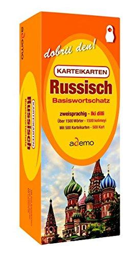 Karteikarten - Basiswortschatz Russisch: Niveau A1 bilingual / zweisprachig