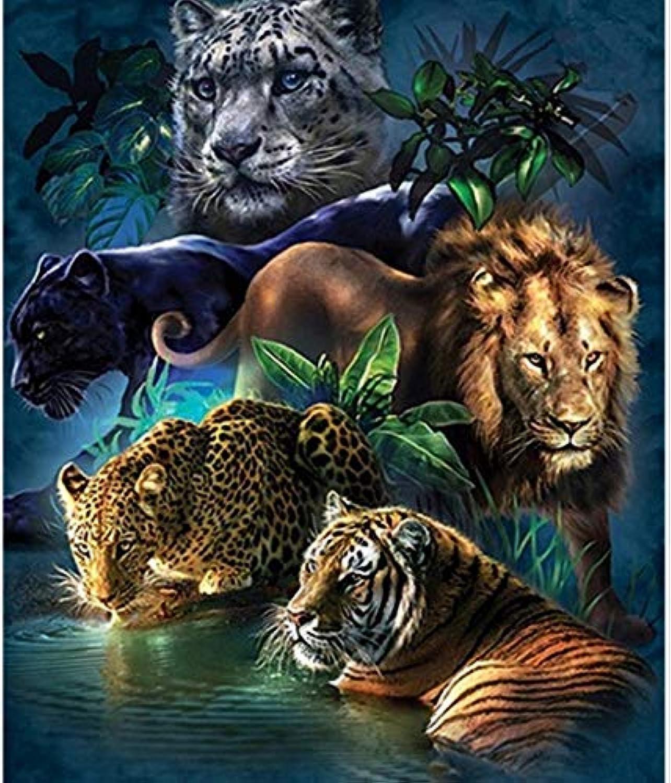 Tiger DIY Diamond Painting Full Square Decoration Home Diamond Embroidery Animals 40X50 cm Frameless