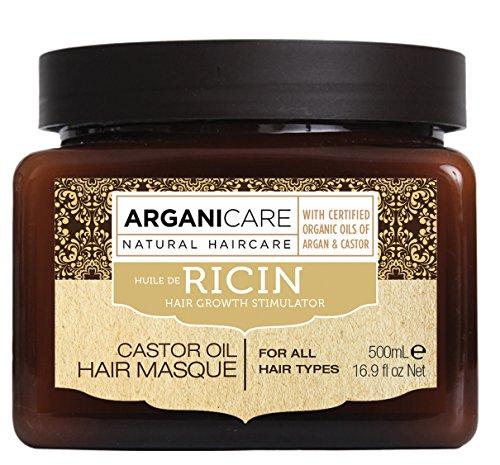 avis soin cheveux très abimés professionnel Arganicare Arganicare Masque raffermissant et huile de ricin bio.  500 ml