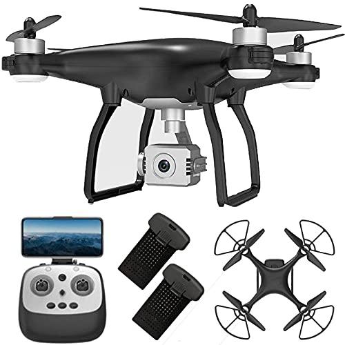 Drone con cámara 4k para Adultos Gimbal de 3 Ejes Drone Plegable con 5GHz FPV Live Video RC Quadcopter con Retorno automático a casa Sígueme Cámaras duales Modo sin Cabeza 2 Baterías y Estuche de tra