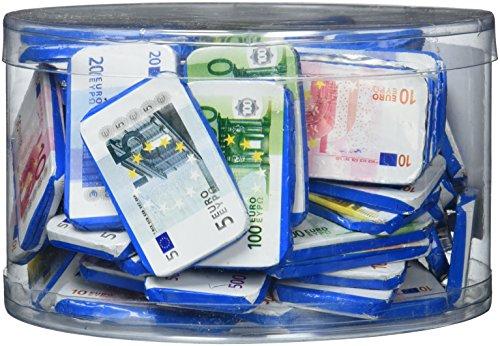Theobroma Euro Banknoten aus Milchschokolade in der Dose   Spielgeld   Perfekt als Mitbringsel, Schatzsuchen und Zur Dekoration, 1er Pack (1 x 1 kg)