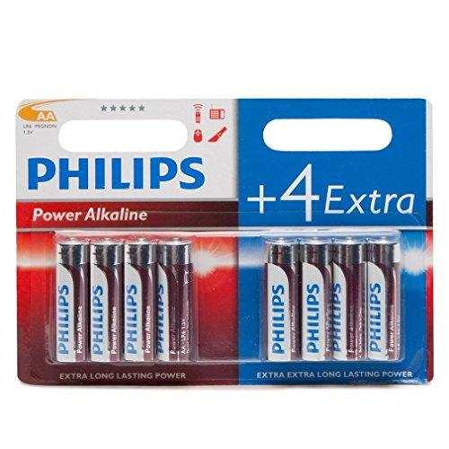 PHILIPS LR6P8BP/10 - Power Alkaline Batería - 4+4 Pilas - Non-Recargable -...